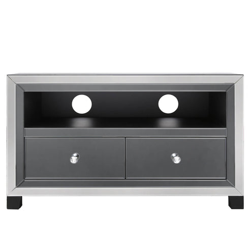 Oscar Smoked and Clear Mirrored Entertainment Unit (60 x 32.5 x 100)