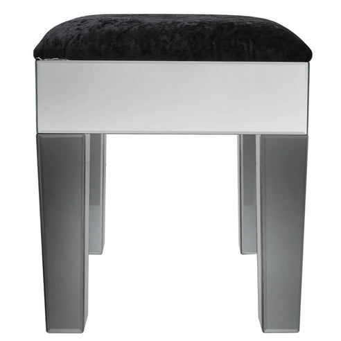 Oscar Smoked and Clear Mirrored Stool (53 x 43 x 45cm)