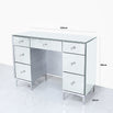 Mistral Venetian Mirrored 7 Drawer Dressing Table (120 x 34 x 85cm)