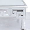 Metropolis Art Deco Venetian Mirrored Coffee Table - Silver (85 x 85 x 48cm) - Clearance