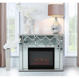 Casablanca Silver Venetian Fire Surround With Electric Fire (120 x 34 x 99cm)