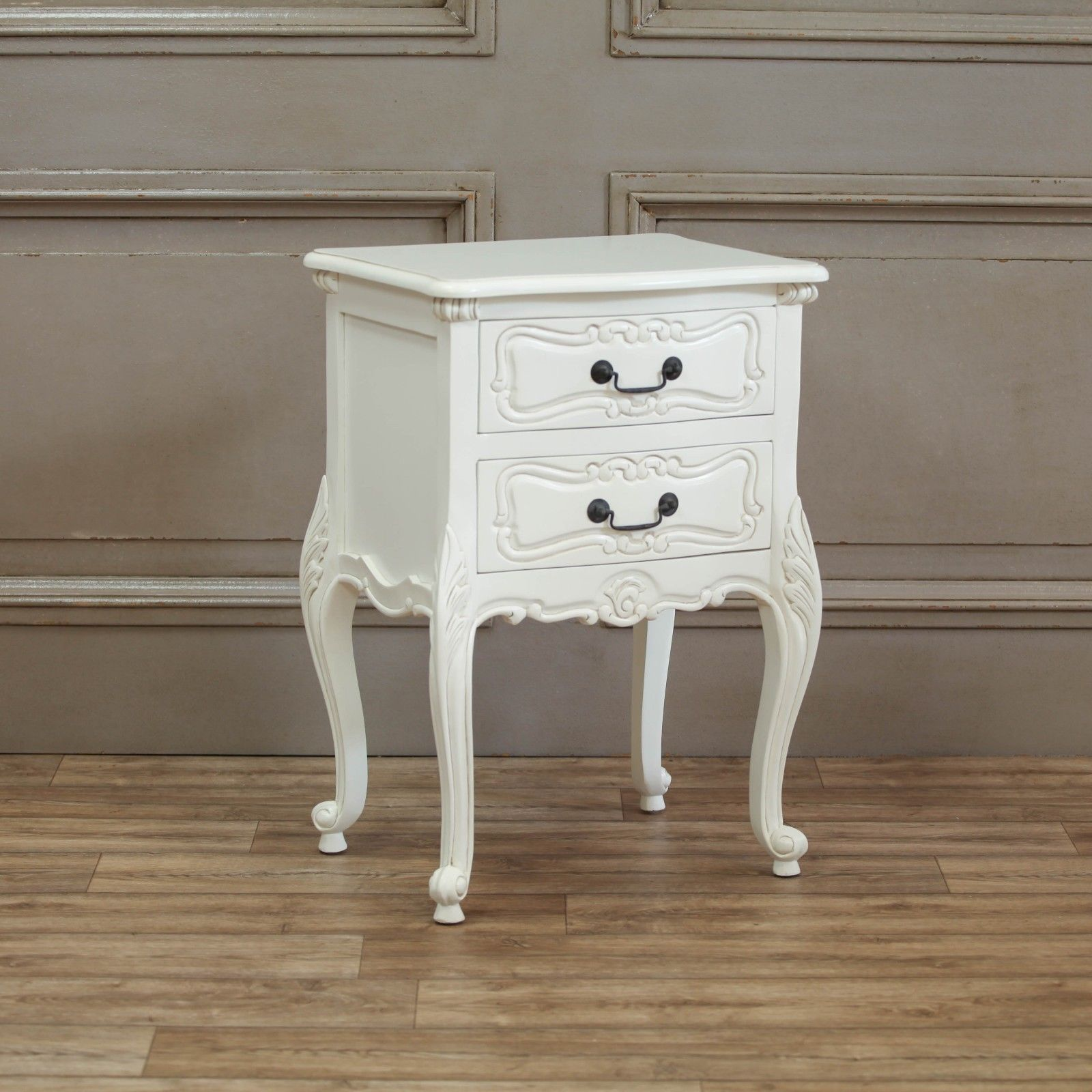 White Chateau French Style Large Bedside Table Chest 50 X 40 X 72