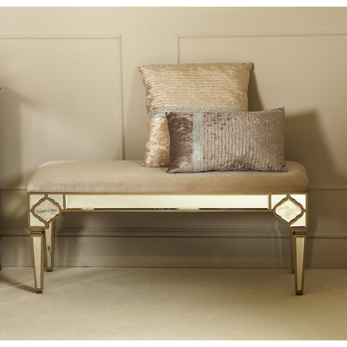 Casablanca Antique Venetian Upholstered Bench / Stool (112 x 41 x 49cm)