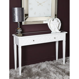 Tangier White Wood Console Table (120 x 34.5 x 81.5cm)