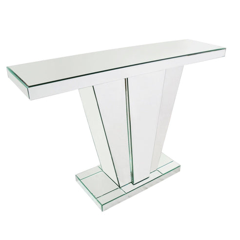 Art Deco Venetian Mirrored Fan Console Table (118 x 32 x 80 )