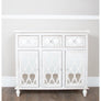 New Hampshire Washed Ash 3 Drawer/3 Door Sideboard (104 x 35.5 x 92.5cm)