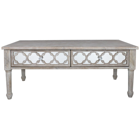 New Hampshire Washed Ash 2 Drawer Coffee Table (120 x 60 x 51cm)