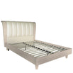 Marlena Light Ivory Walnut King Size Bed Frame (5')