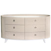 Marlena Light Ivory Walnut Chest of 6 Drawers (93 x 62.5 x 173cm)