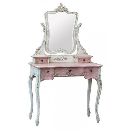 French dusky pink dressing table