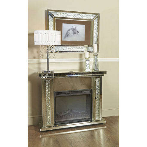 Art Deco Venetian Savoy Fire Surround with Electric Fire (Set) (120 x 34 x 99cm)