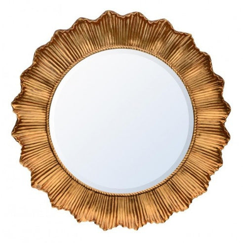 Antique gold sunflower mirror