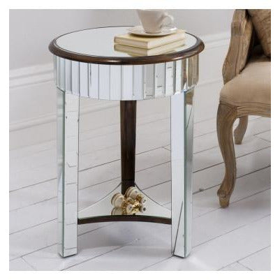Venetian glass deco round side table - Riley