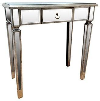 Venetian glass antique silver gilded small console table