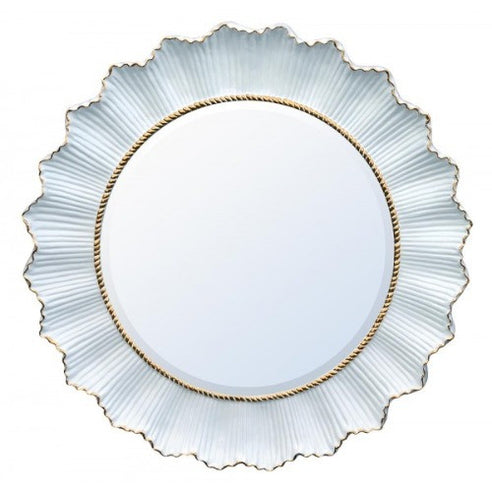 White and gold sunflower mirror