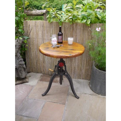 Retro industrial cast iron bistro table - Foundry