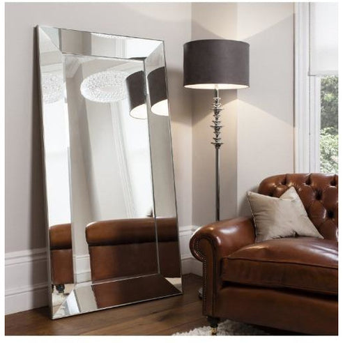 Large art deco floor leaner mirror - Vasto