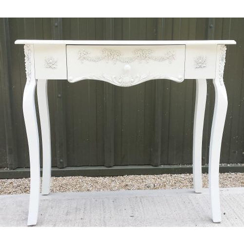 Laura white shabby chic console table