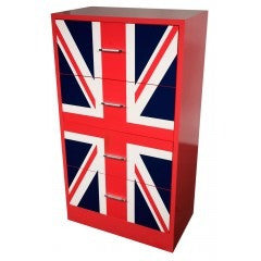 Union jack tallboy chest of drawers