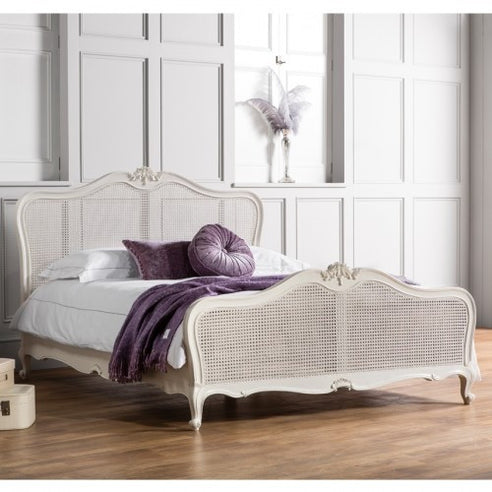 Chic Chalk White French Kingsize Bed
