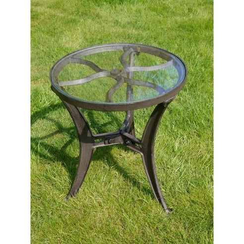 Industrial cast iron low side table - Foundry
