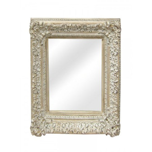 Provence french antique white shabby chic mirror
