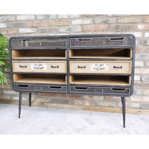 Brixton Metal and Wood Industrial Sideboard (120 x 33 x 87cm)