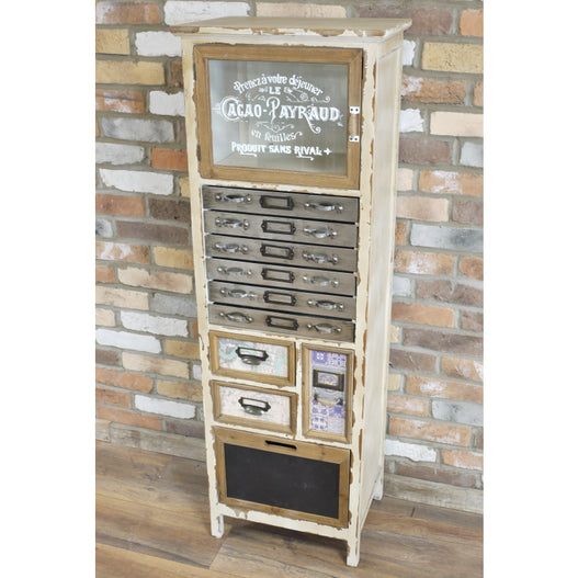 Brixton Metal and Wood Industrial Storage Cabinet (47 x 35 x 141cm)