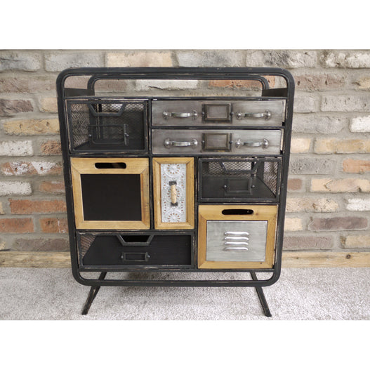 Brixton Metal and Wood Industrial Cabinet (63 x 33 x 74cm)