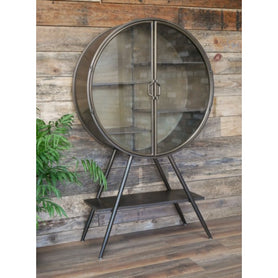 Retro Industrial Deco Style Metal Display Cabinet (80 x 31 x 134cm)