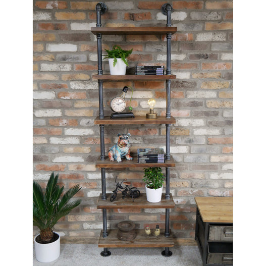 Hoxton Metal Industrial Tall Pipe Shelf (60 x 25 x 198 )