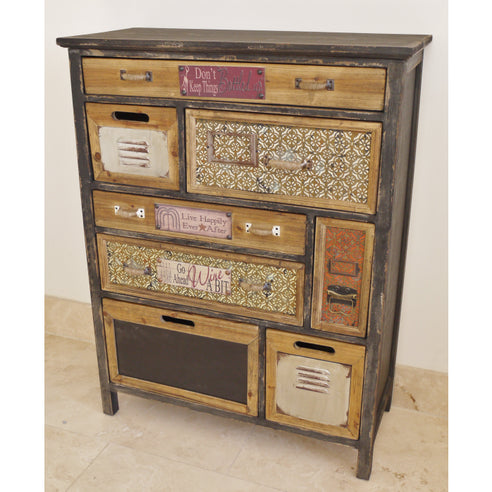 Brixton Metal and Wood Industrial Storage Chest (73 x 32 x 95cm)