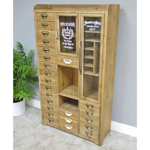 Brixton Metal and Wood Industrial Collectors Display Cabinet (79 x 34 x 141cm)