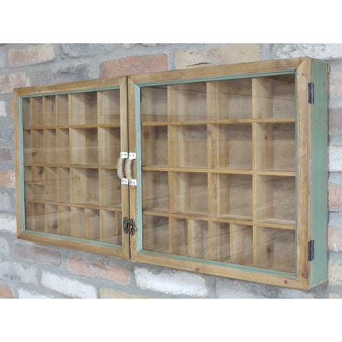 Brixton Metal and Wood Industrial Wall Collectors Display Unit (90 x 10 x 43cm)