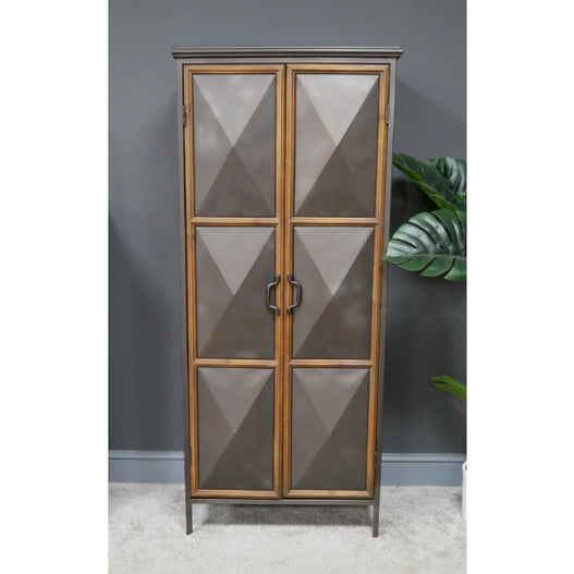 Dalston Industrial Warehouse Metal Tall Cabinet (60 x 37 x 138cm)