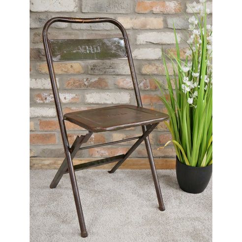 Retro Industrial Metal Original Vintage Folding Chair - Set of 4 ( 41 x 51 x 81cm)