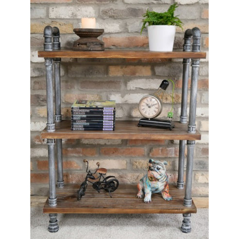 Hoxton Metal Industrial Pipe Shelf Unit (75 x 30 x 100 )