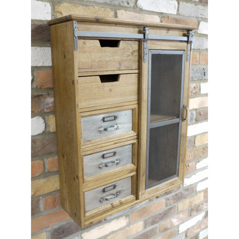 Dalston Industrial Warehouse Wall Unit (56 x 18 x 69cm)
