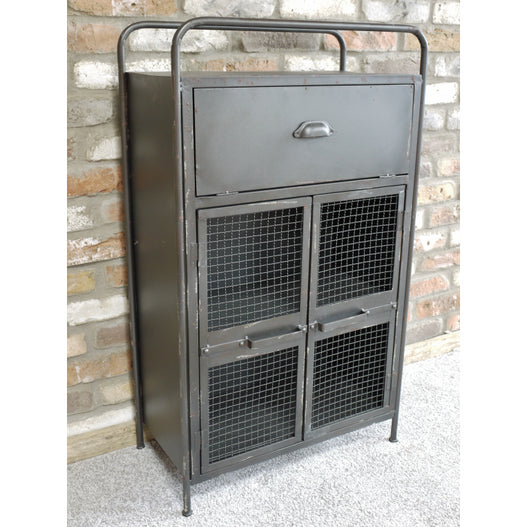 Brixton Metal Industrial Display Cabinet (60 x 31 x 104cm)