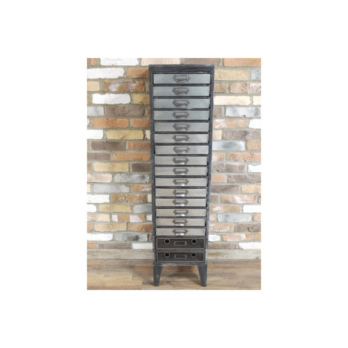 Hoxton Metal Industrial Office Style 17 Drawer Cabinet (35 x 34 x 138cm)