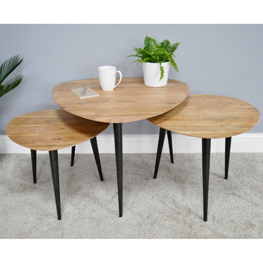 Hoxton Retro 50's G Plan Style Side Table Set