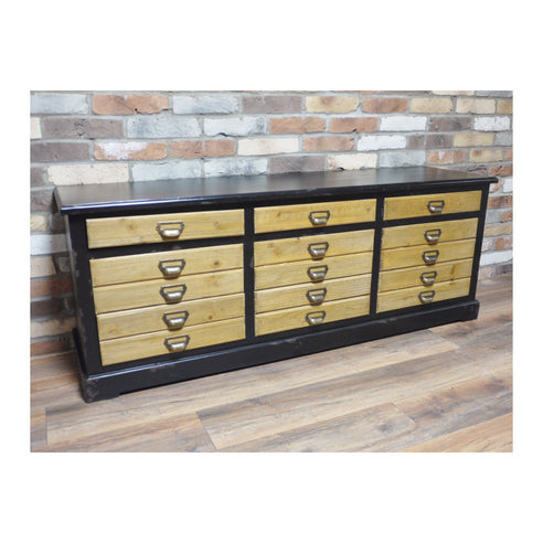 Retro Industrial Low Sideboard
