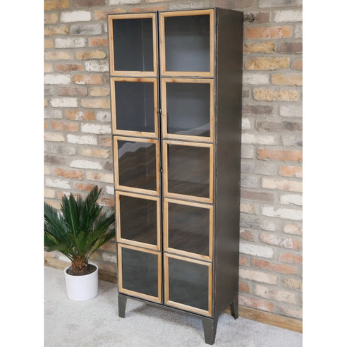 Dalston Industrial Warehouse Metal Display Cabinet (59 x 33 x 164cm)