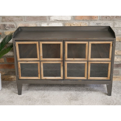 Dalston Industrial Warehouse Metal Low Sideboard (94 x 33 x 64cm)