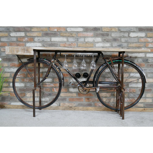 Retro Industrial Reclaimed Bicycle Bar (193 x 42 x 92cm)