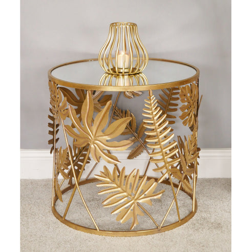 Gold Metal Round Side Table (50 x 50 x 48cm)