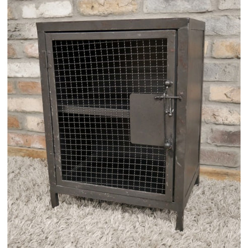 Brixton Metal Industrial Bedside Cabinet (47 x 32 x 51cm)
