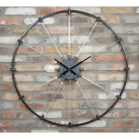 Retro Industrial 50's Illuminated Cathode Ray Clock (93 x 5 x 93cm)