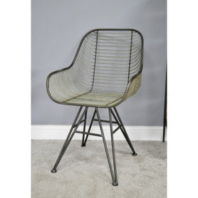 Hoxton Metal Industrial Retro 'Open Wirework' Style Armchair