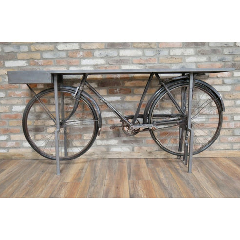 Retro Industrial reclaimed Delhi Bicycle Console Table (188 x 38 x 90cm)